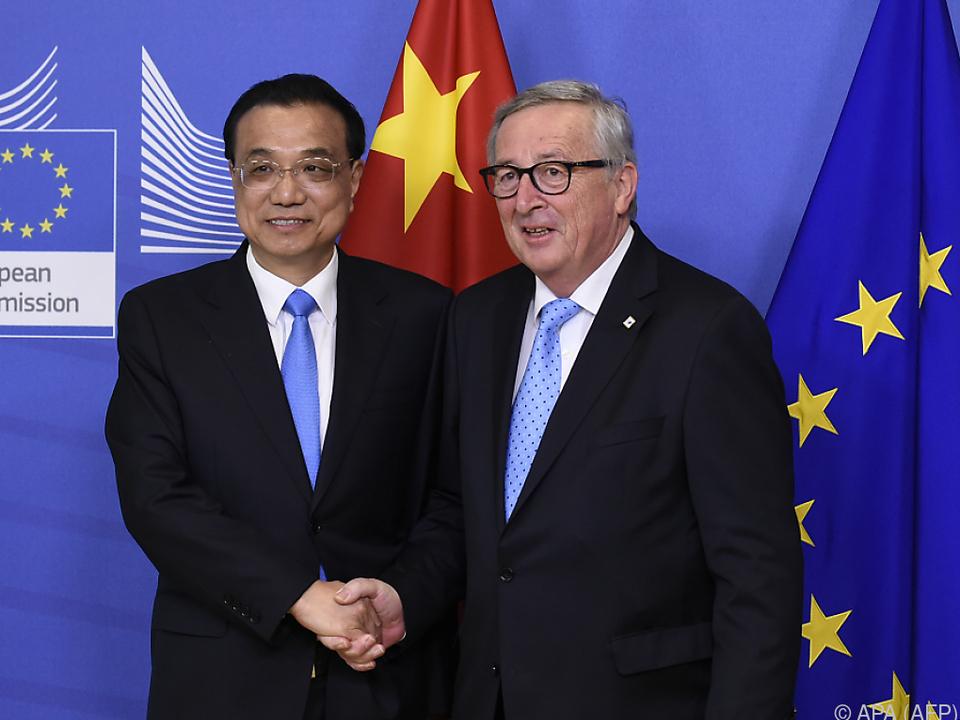 Juncker traf Chinas Regierungschef Li Keqiang