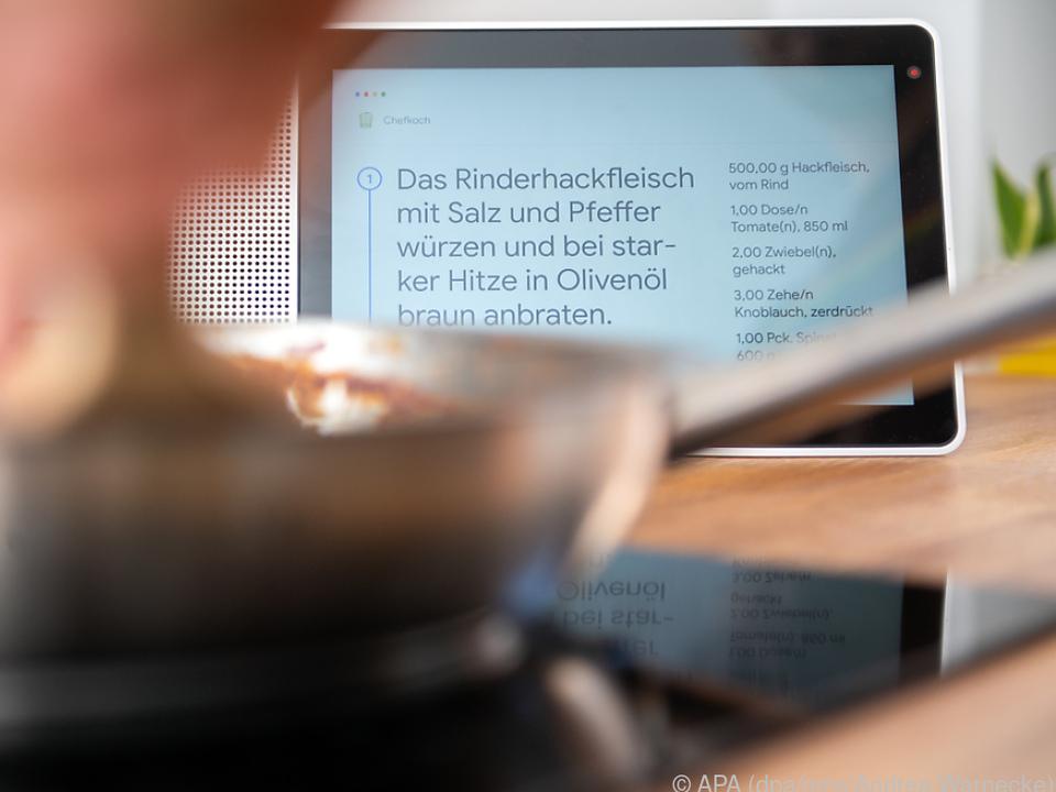 Lenovos Smart Display ist ein Tablet für Köche und Köchinnen