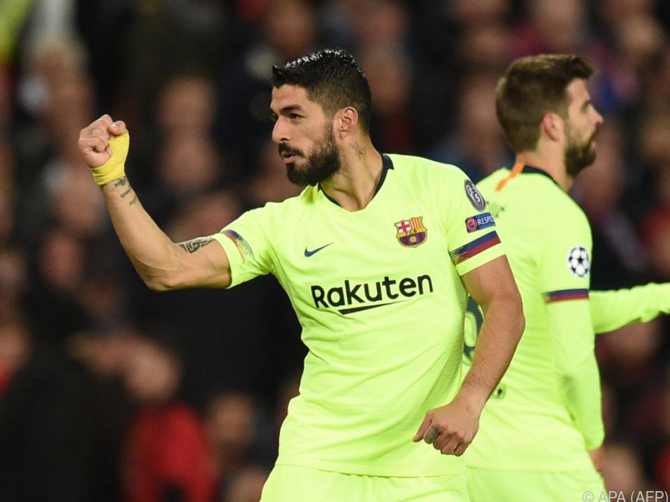 Luis Suarez jubelt über Barcas Siegtreffer, es war aber ein Eigentor