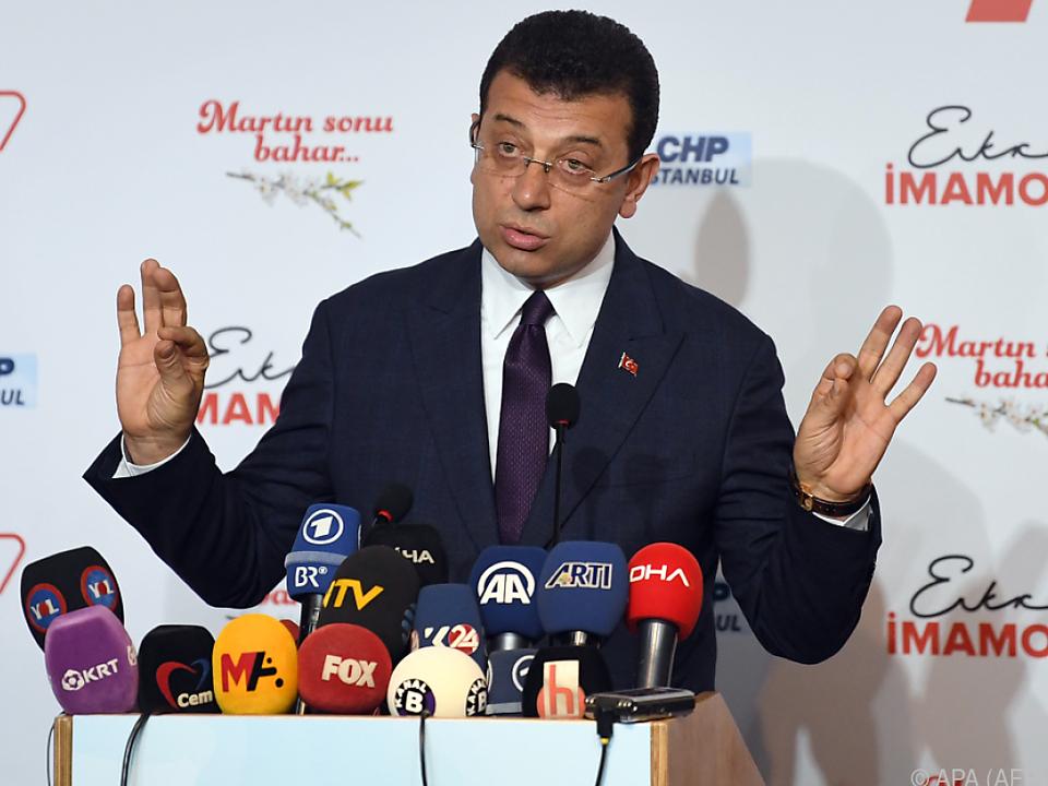 Oppositionskandidat Imamoglu beansprucht Wahlsieg für sich
