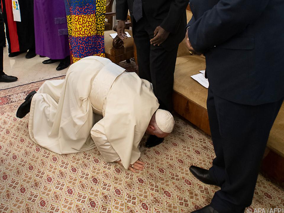 Papst bat um Frieden