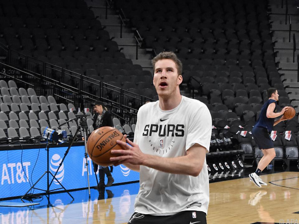 Pöltl konnte drei Punkten werfen, das half den Spurs aber nicht weiter