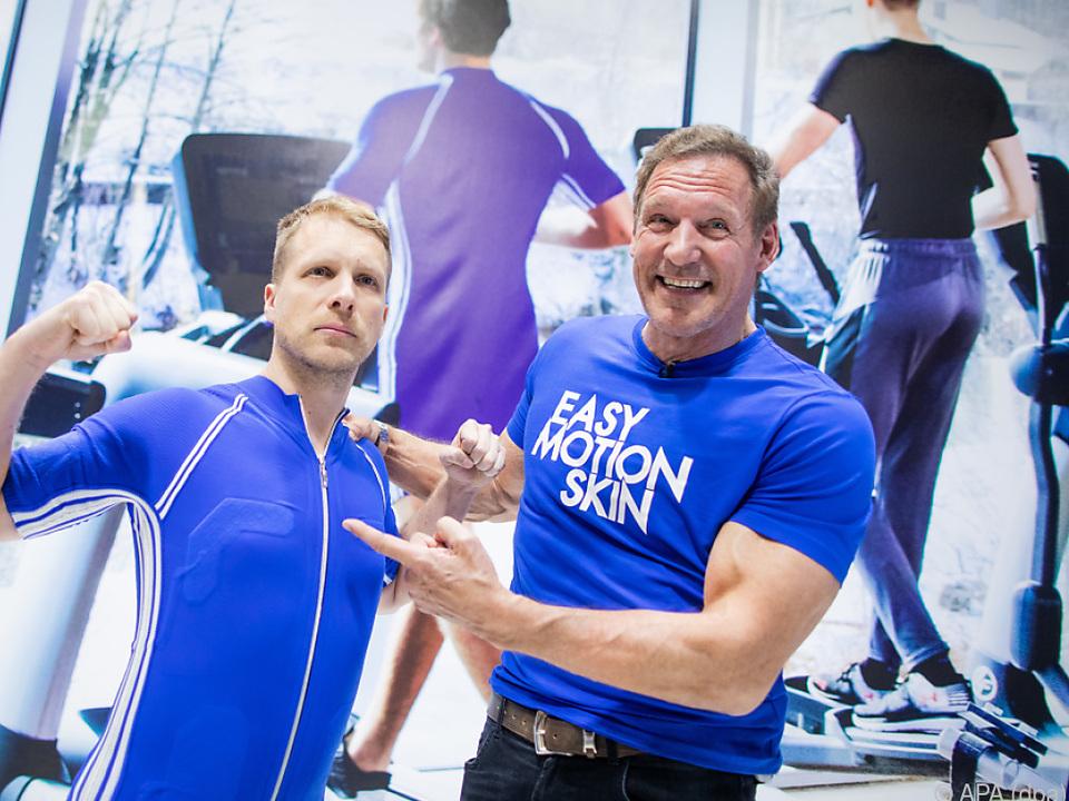 Ralf Moeller und Oliver Pocher bei der Fitnessmesse