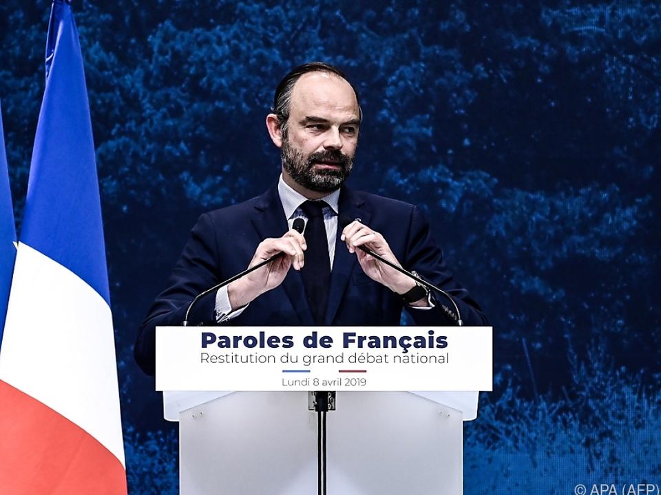 Regierungschef Philippe stellt Reaktion auf \