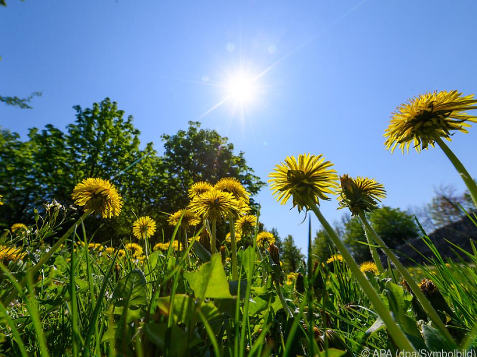 Schönes Wetter und hohe Temperaturen am Donnerstag