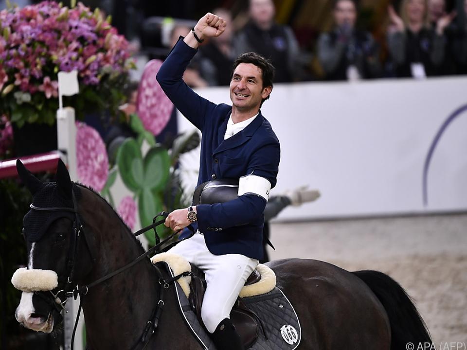 Schweizer Steve Guerdat voller Freude über Weltcup-Sieg