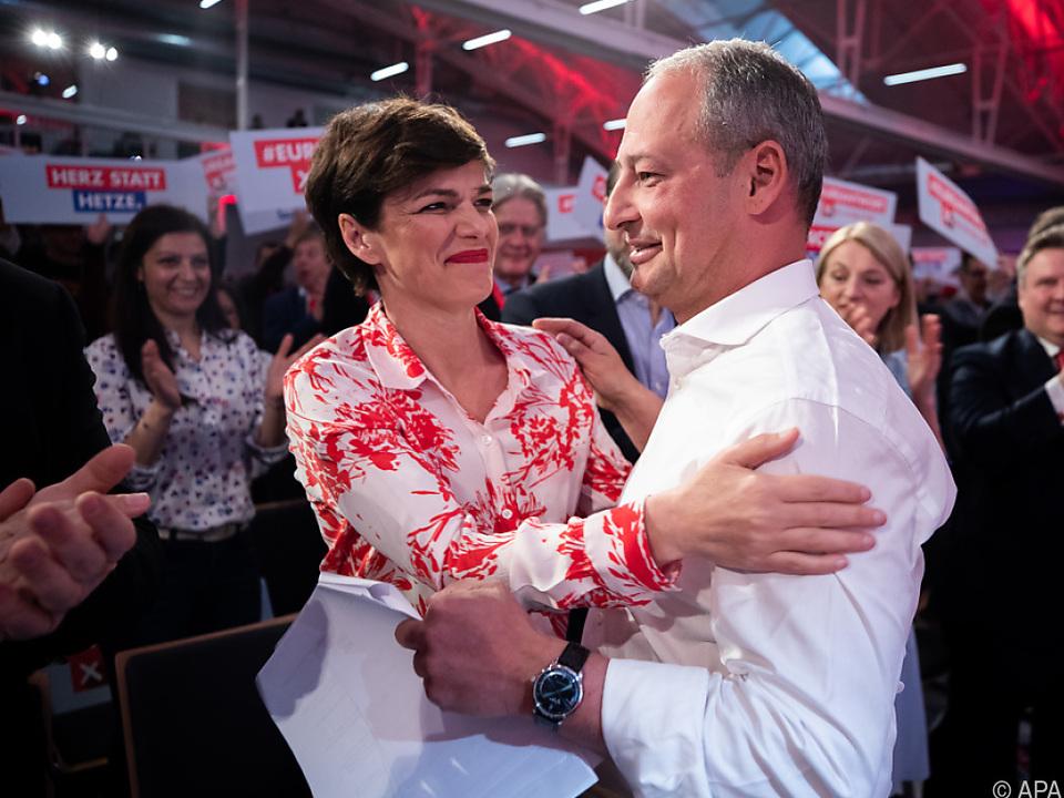 SPÖ-Vorsitzende Rendi-Wagner mit EU-Spitzenkandidat Schieder