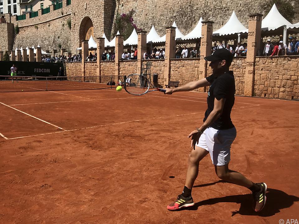 Thiem beim Training in Monte Carlo