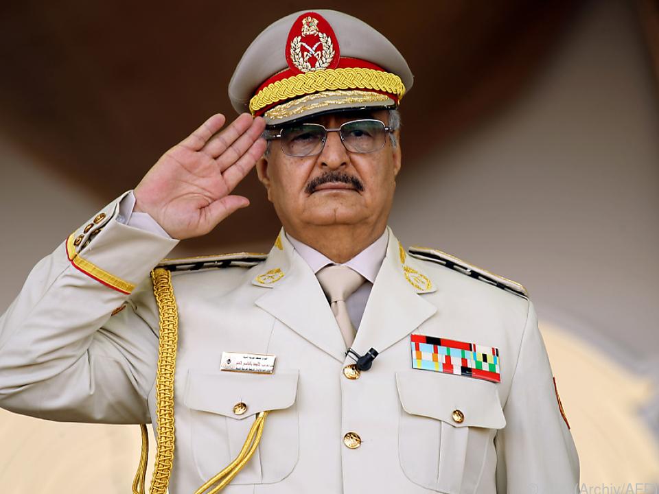 Truppen von General Haftar auf dem Vormarsch in Libyen