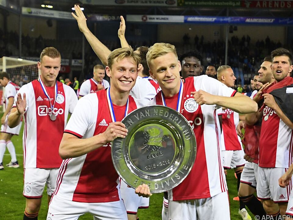 Ajax Amsterdam mit dem Meisterteller