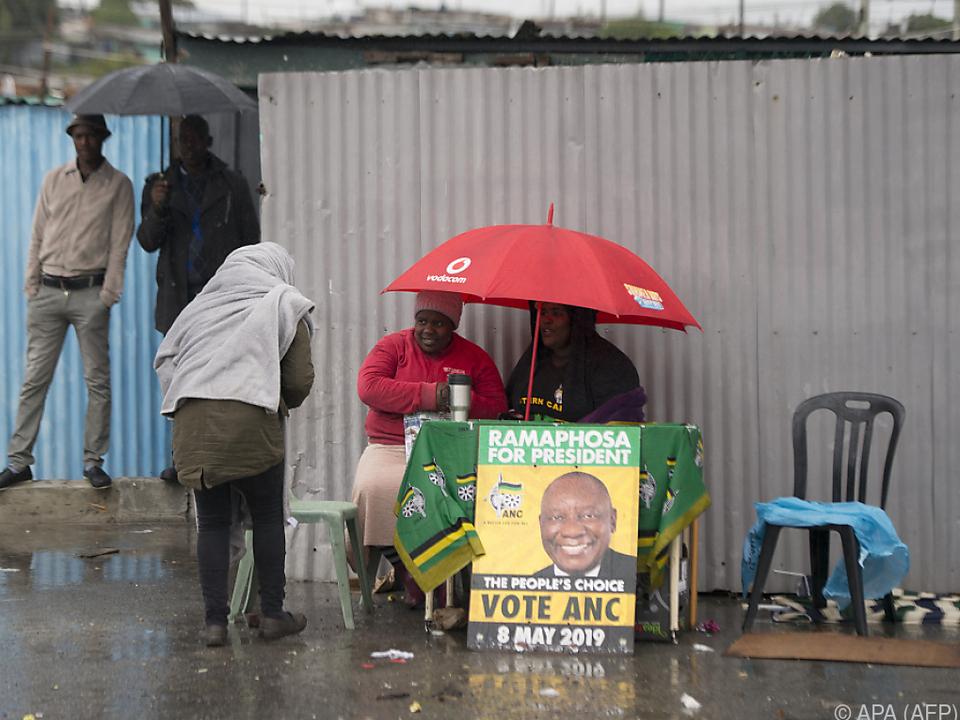 Bisher rutschte der ANC nie unter 60 Prozent der Stimmen