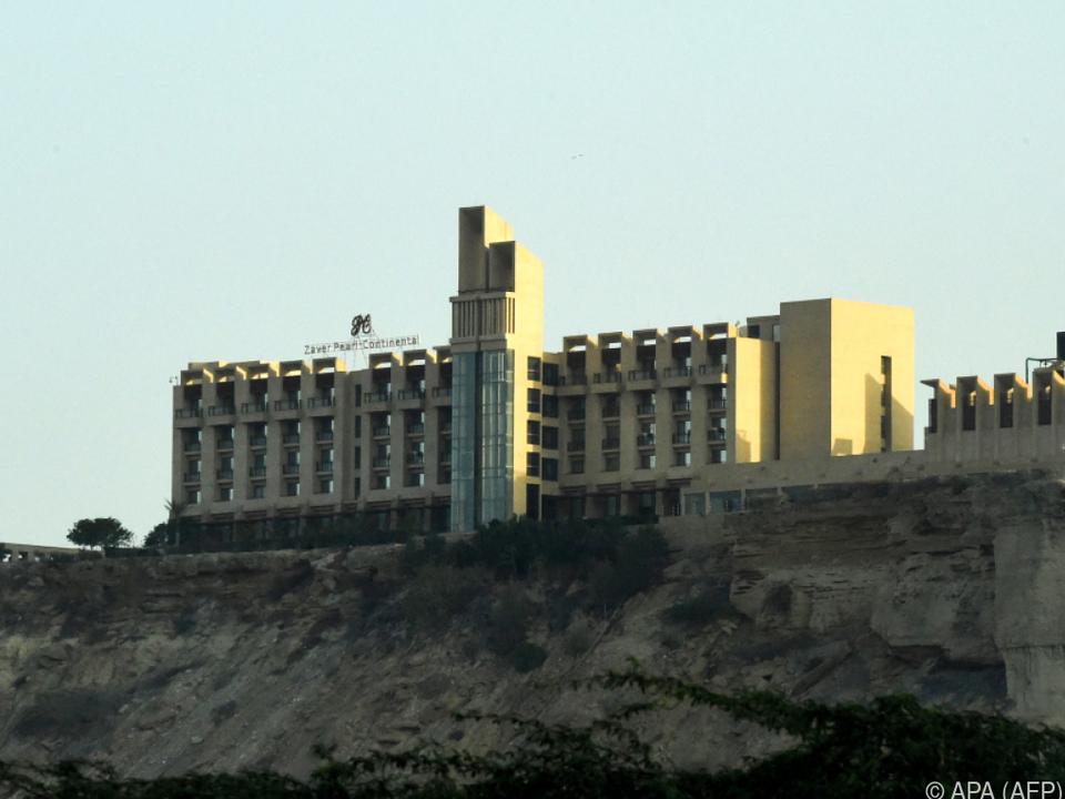 Blick auf das Fünf-Sterne-Hotel Pearl Continental