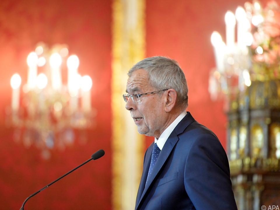 Bundespräsident Van der Bellen richtet sich an die Bevölkerung