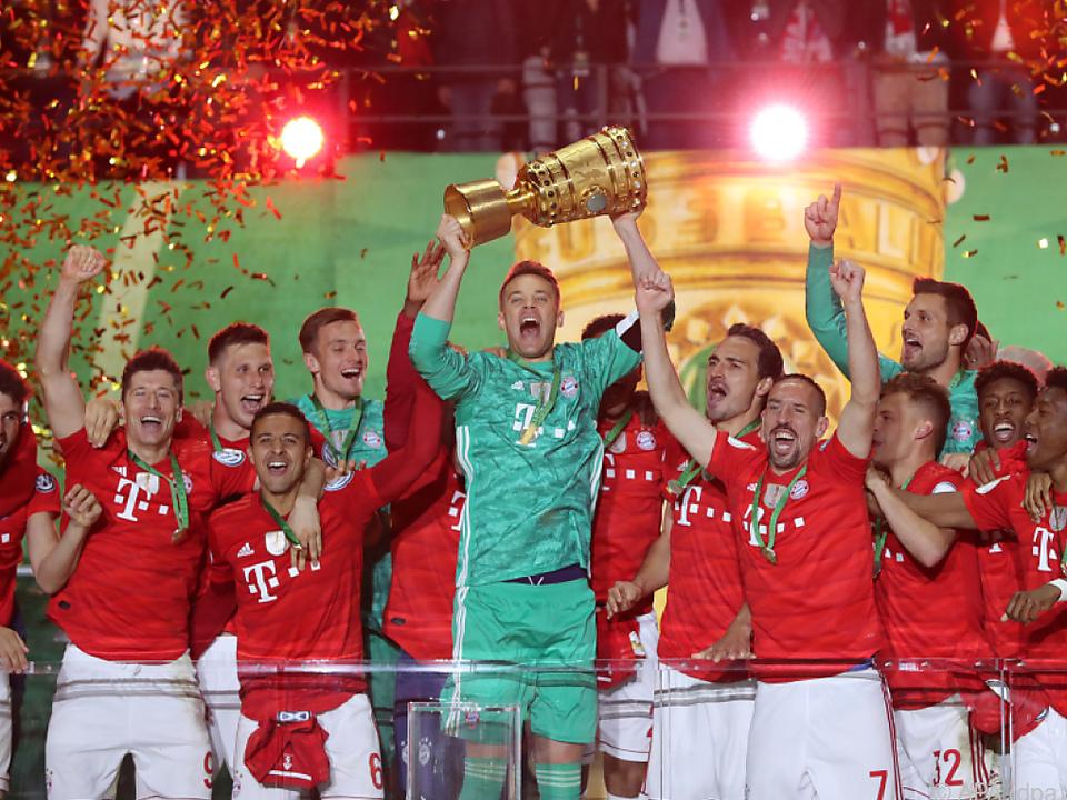 Die Bayern fixierten das zwölfte Double der Clubgeschichte