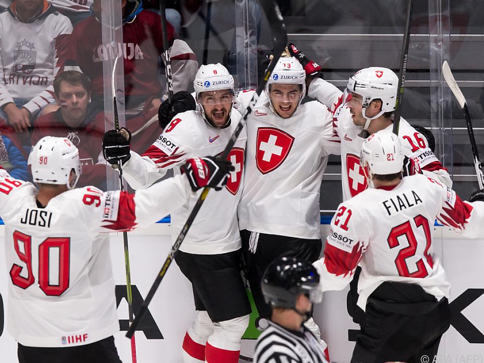Die Schweizer gehen mit zwei Siegen im Gepäck in die Partie