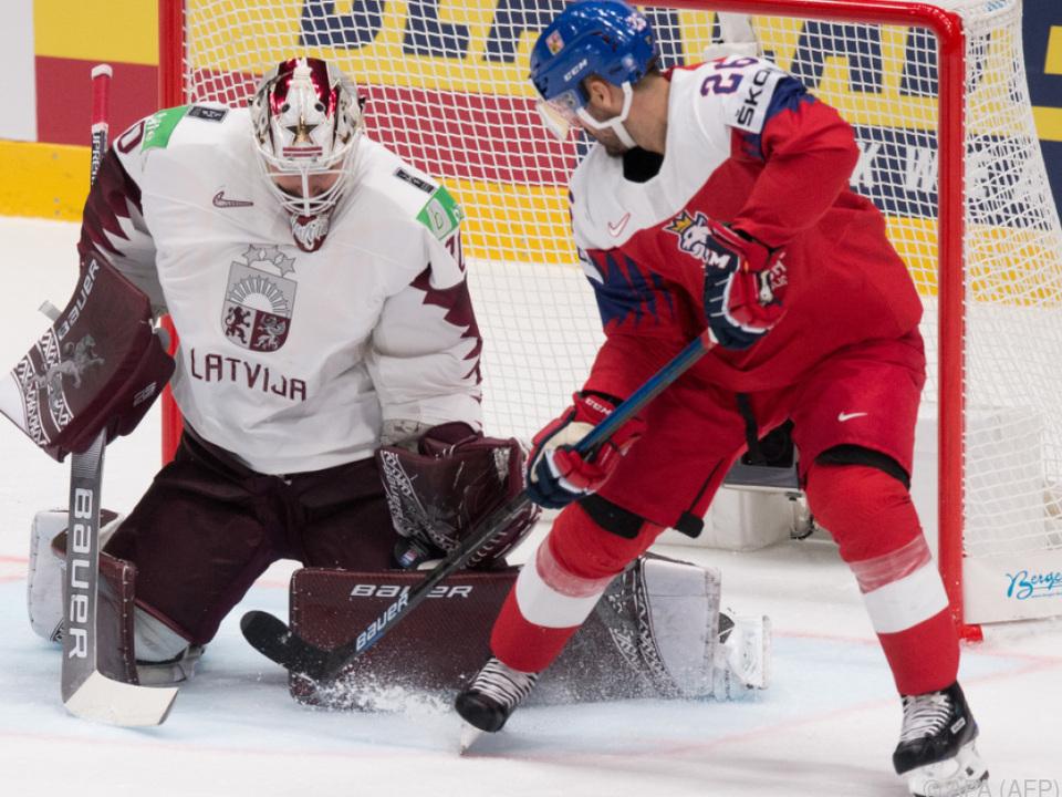 Die Tschechen drehten die Partie gegen Lettland