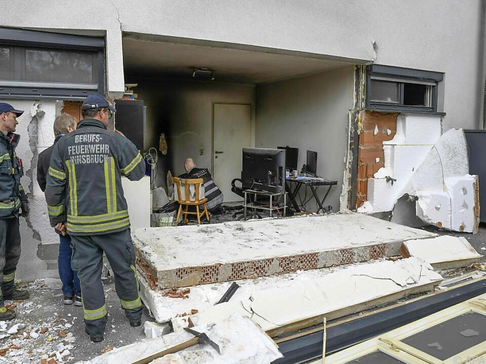 Hausmauer stürzte teilweise ein