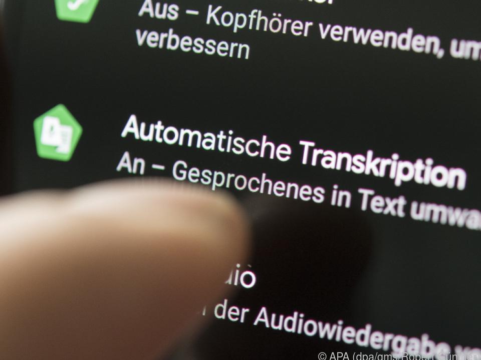 Die automatische Transkription wurde für Android Q noch einmal verbessert