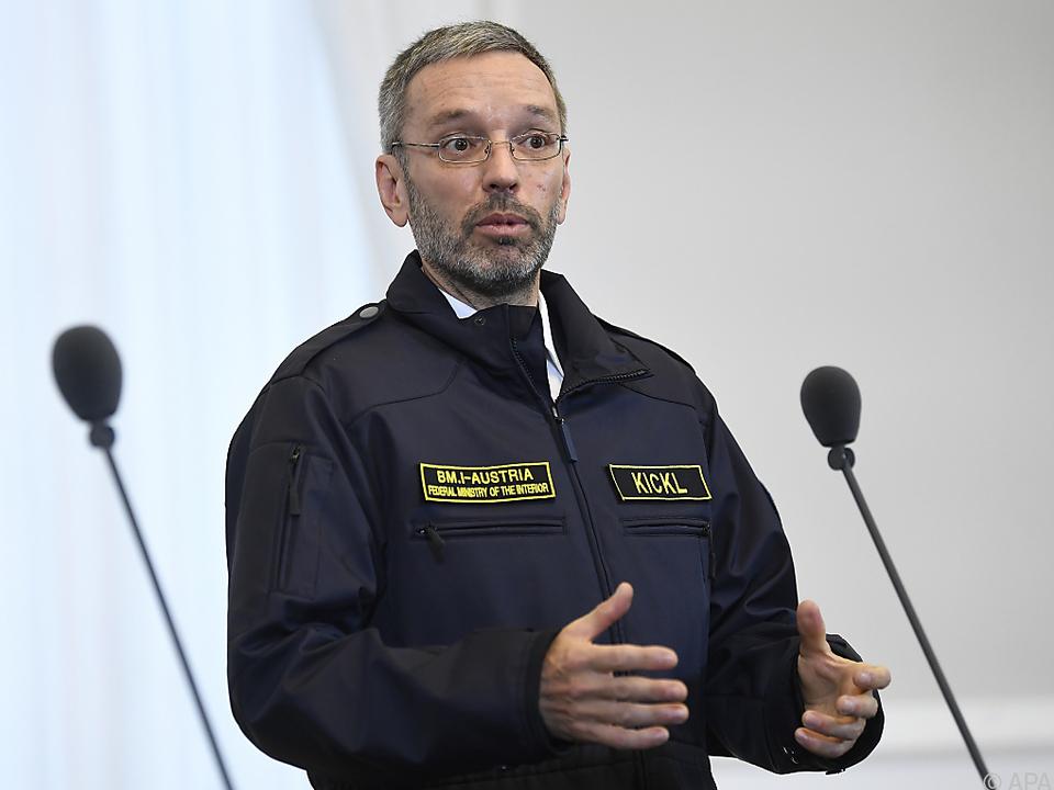 Innenminister Kickl sieht den EuGH auf dem falschen Pfad