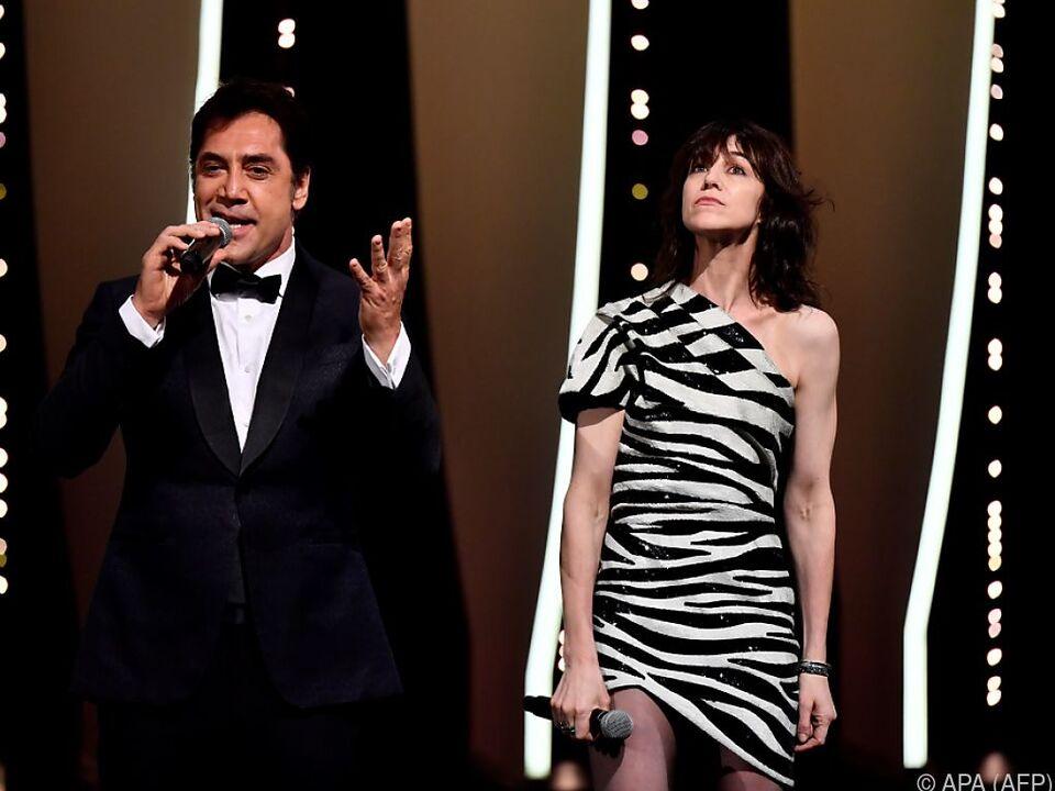 Javier Bardem und Charlotte Gainsbourg während der Eröffnungsfeier