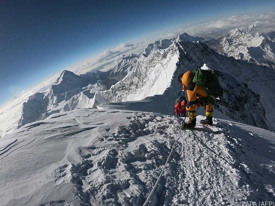 Jedes Jahr kommen Bergsteiger am Mount Everest ums Leben