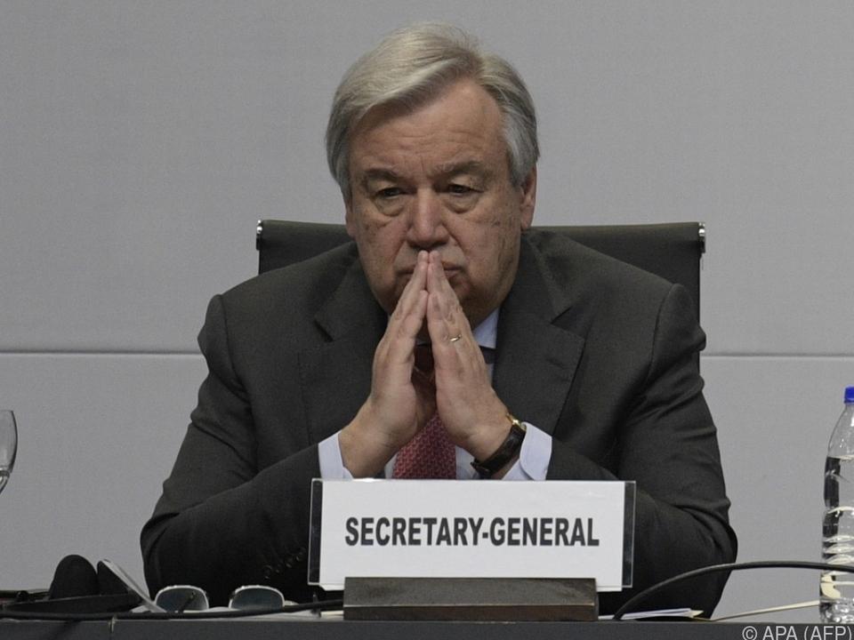 Klima-Appell von UNO-Generalsekretär Antonio Guterres
