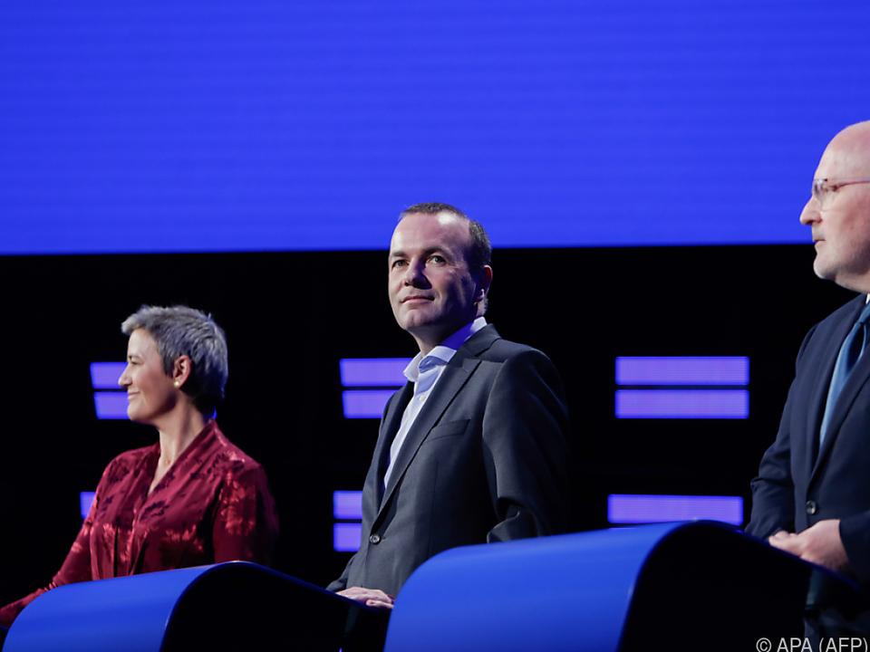 Konfrontation der Spitzenkandidaten in Brüssel