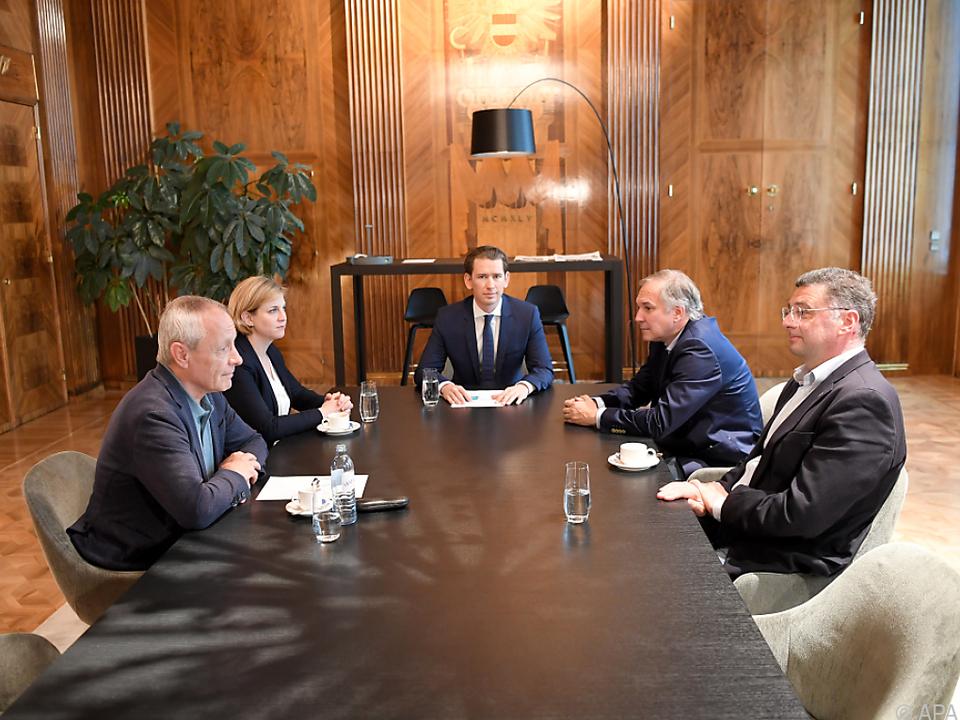 Kurz unterhielt sich mit den Vertretern der Parlamentsparteien