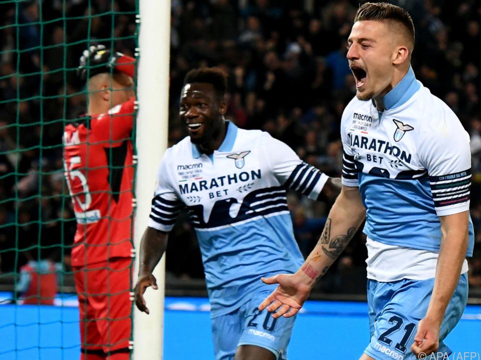 Lazio schlug Atalanta Bergamo 2:0