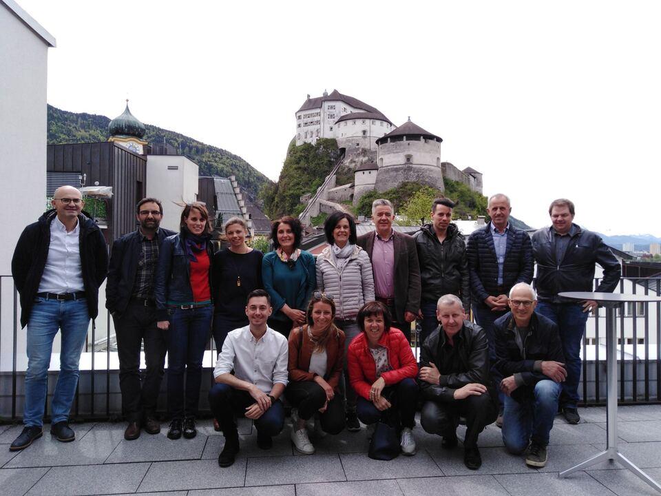 Mitglieder der LAGs bei der Lehrfahrt in Kufstein_copyright GRW Wipptal Eisacktal