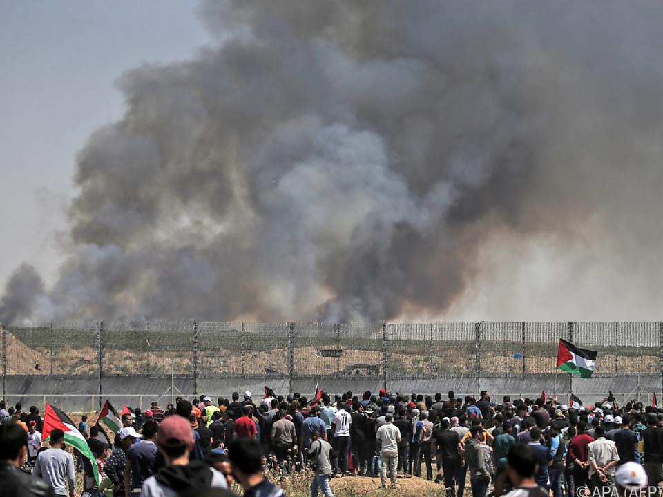 Palästinenser demonstrieren, während in Israel der ESC gefeiert wird