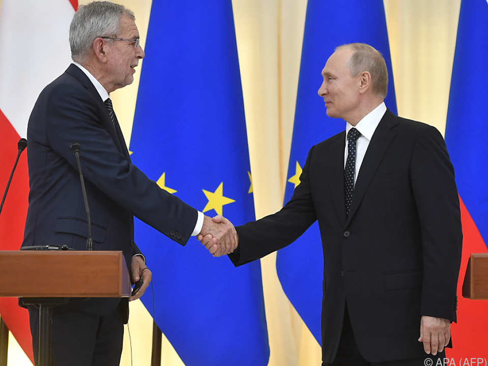 Putin und Van der Bellen betonen das gute Verhältnis zwischen Russland und Österreich