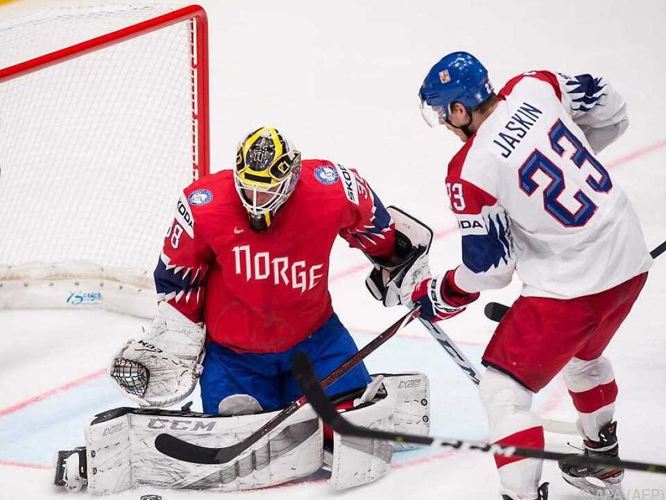 Tschechien setzte sich gegen Norwegen klar mit 7:2 durch