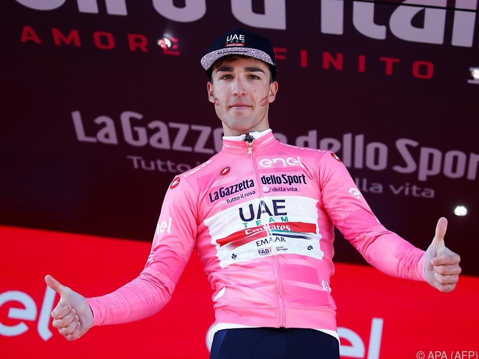 Valerio Conti schlüpfte ins Rosa Trikot