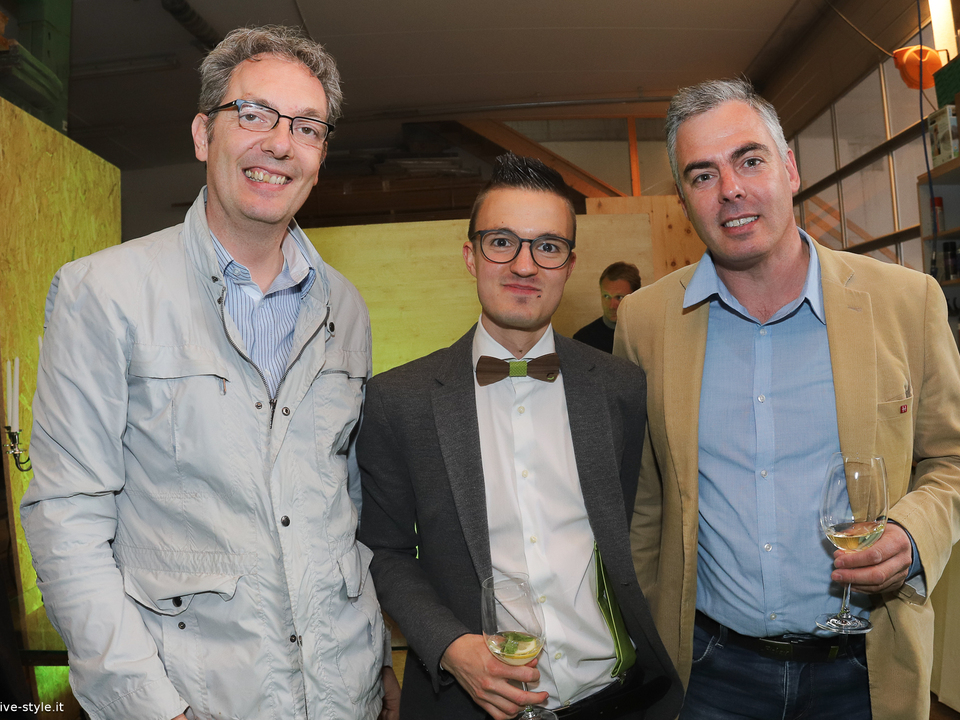 Wolfgang Egger (Berufsgemeinschaft der Tischler), Patrick Gampenrieder, Matthias Prast (LVH-Ortsobmann)