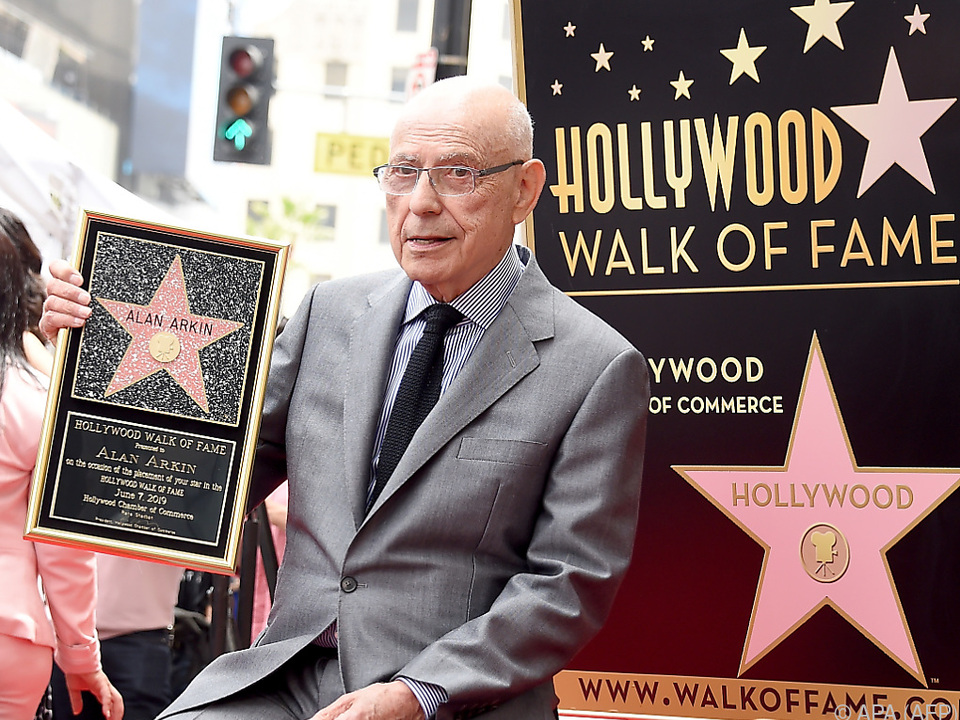Alan Arkin bei der Zeremonie in Hollywood