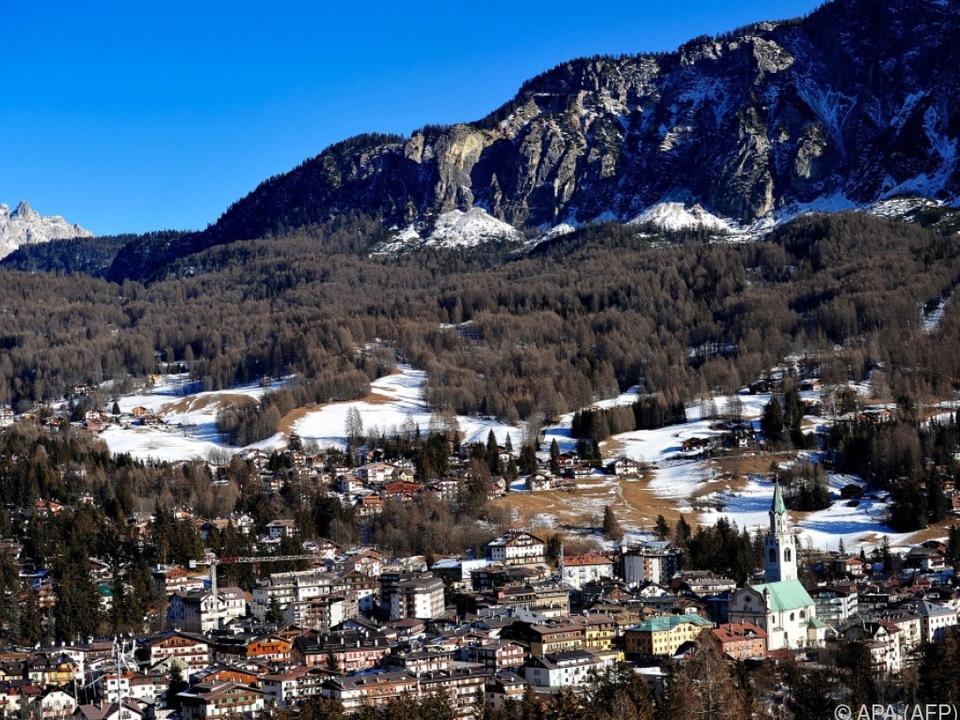 Blick auf Cortina d\'Ampezzo