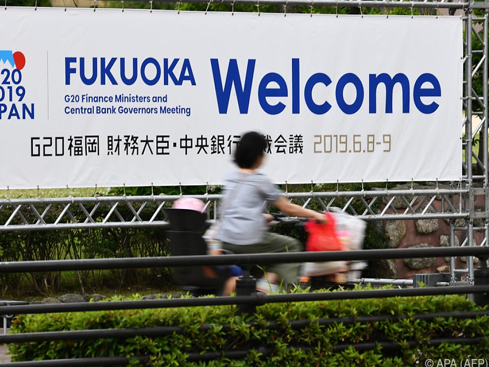 Das Treffen findet im japanischen Fukuoka statt