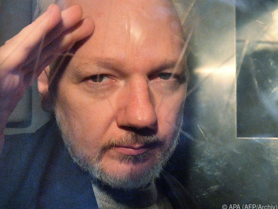 Der WikiLeaks-Gründer ist derzeit in Großbritannien in Haft