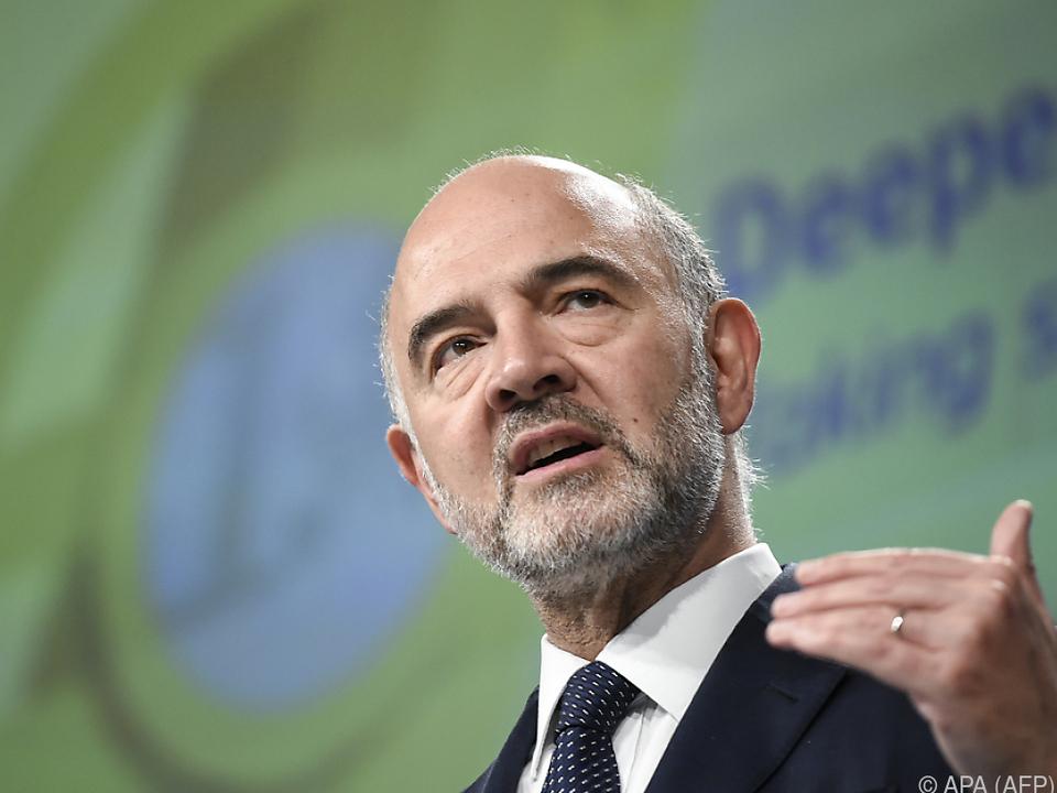 EU-Wirtschaftskommissar Mosovici übt Druck auf Italien aus