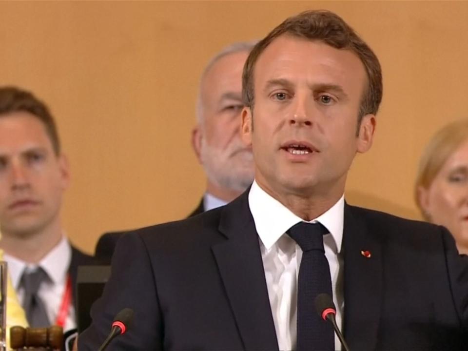 Macron warnt vor Krieg und fordert Reform des Kapitalismus
