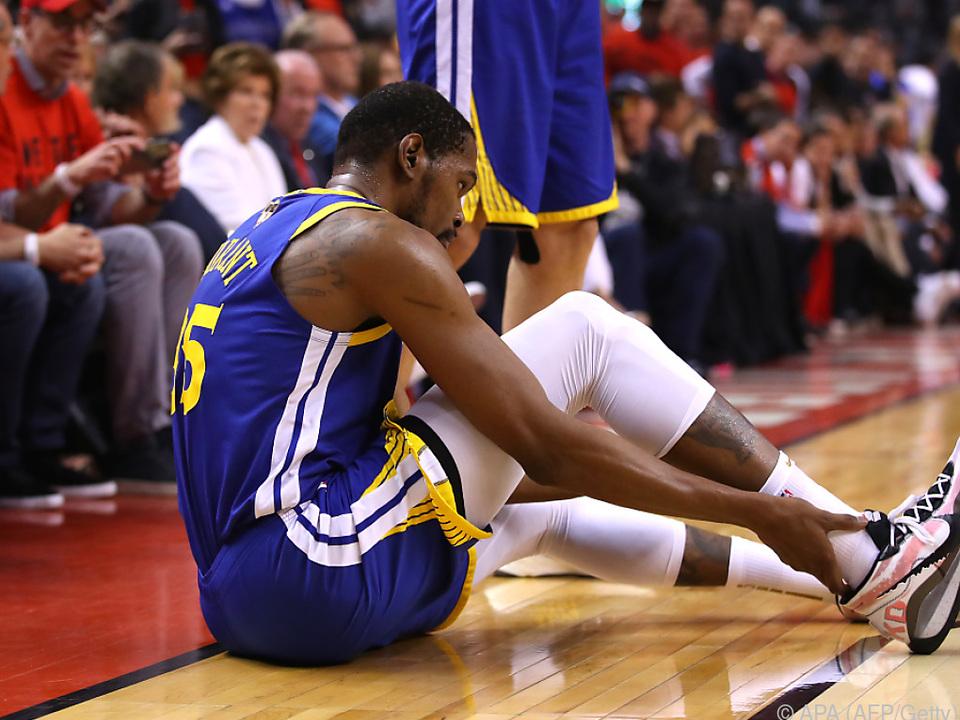 NBA-Star Keven Durant verletzte sich in Partie fünf der Finalserie