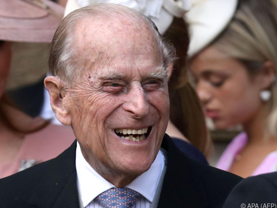 Prinz Philip bei der Hochzeit seines Enkels Harry