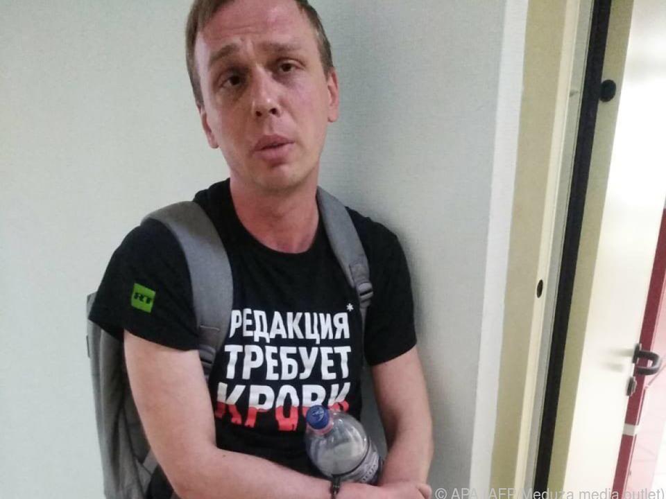 Russischer Journalist Iwan Golunow wurde am Donnerstag festgenommen