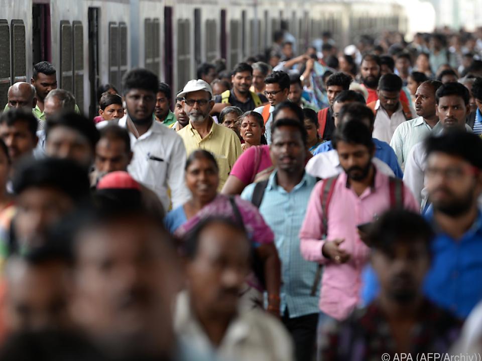 Vor allem in Indien wird die Bevölkerung wachsen