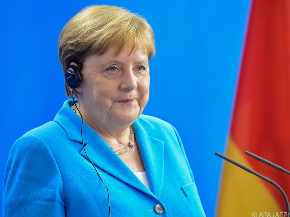 Bundeskanzlerin Merkel versuchte zu beruhigen