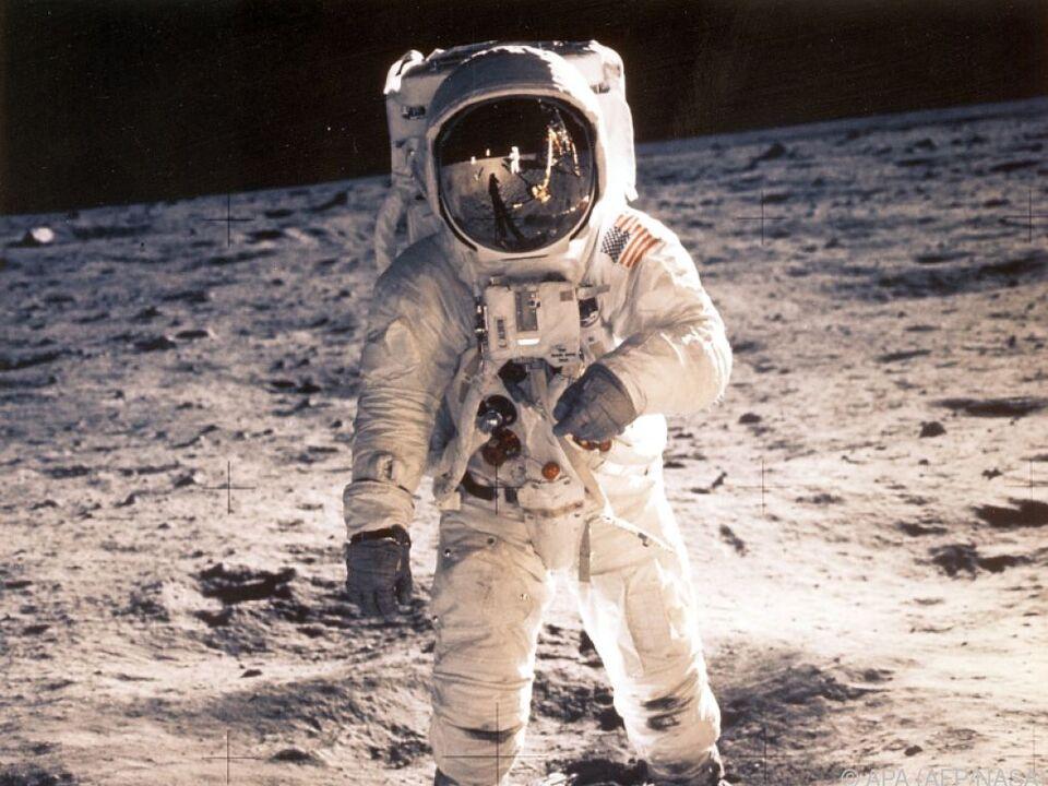 Buzz Aldrin, fotografiert von Neil Armstrong