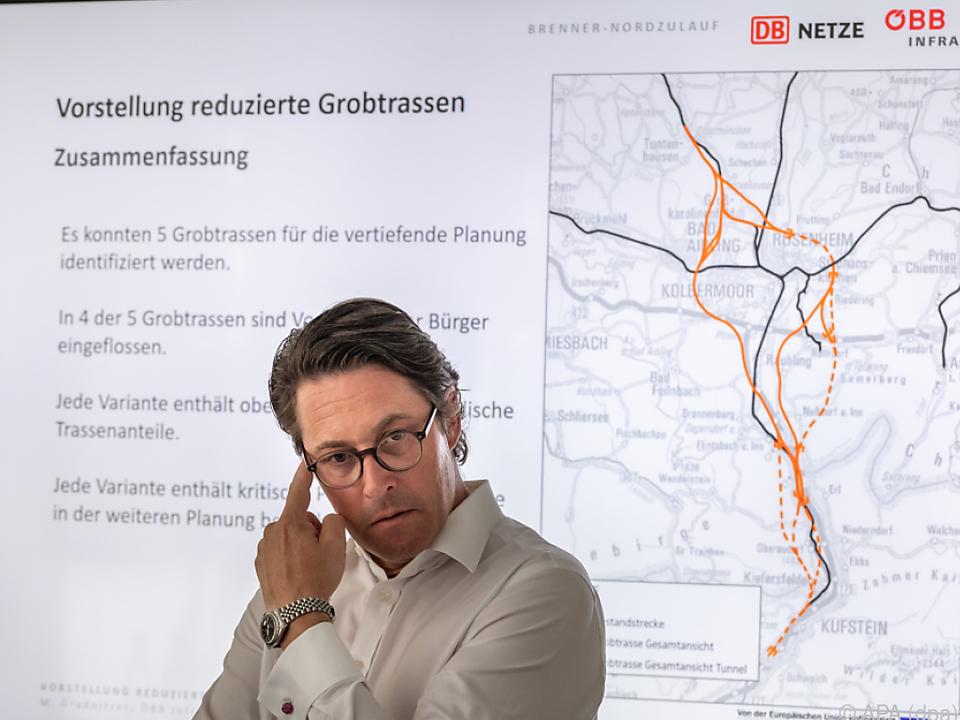 Der deutsche Verkehrsminister Scheuer stellte die fünf Varianten vor
