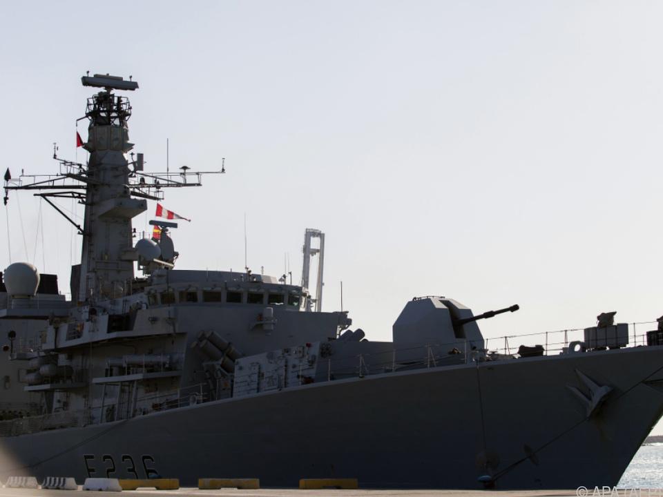 Die britische Marine soll eingegriffen haben