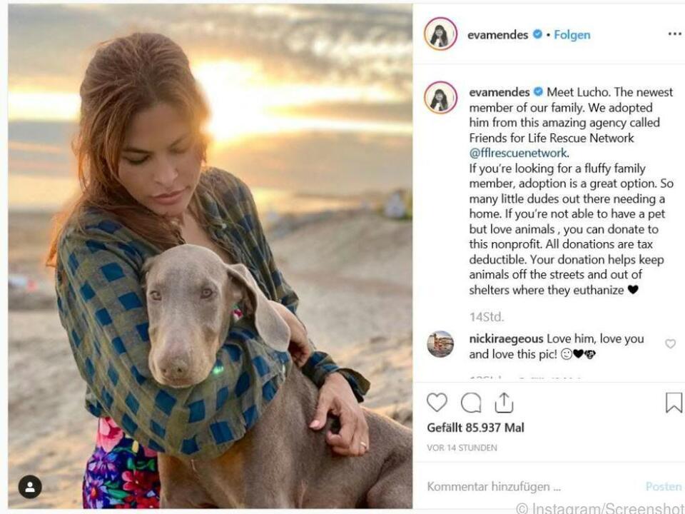 Eva Mendes mit ihrem \